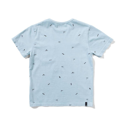 Fin Palm T-Shirt Washed Blue