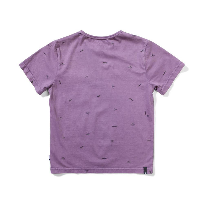 Fin Palm T-Shirt Washed Grape