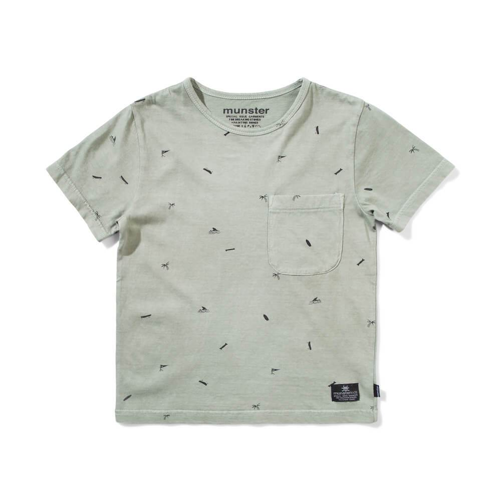Fin Palm T-Shirt Washed Olive