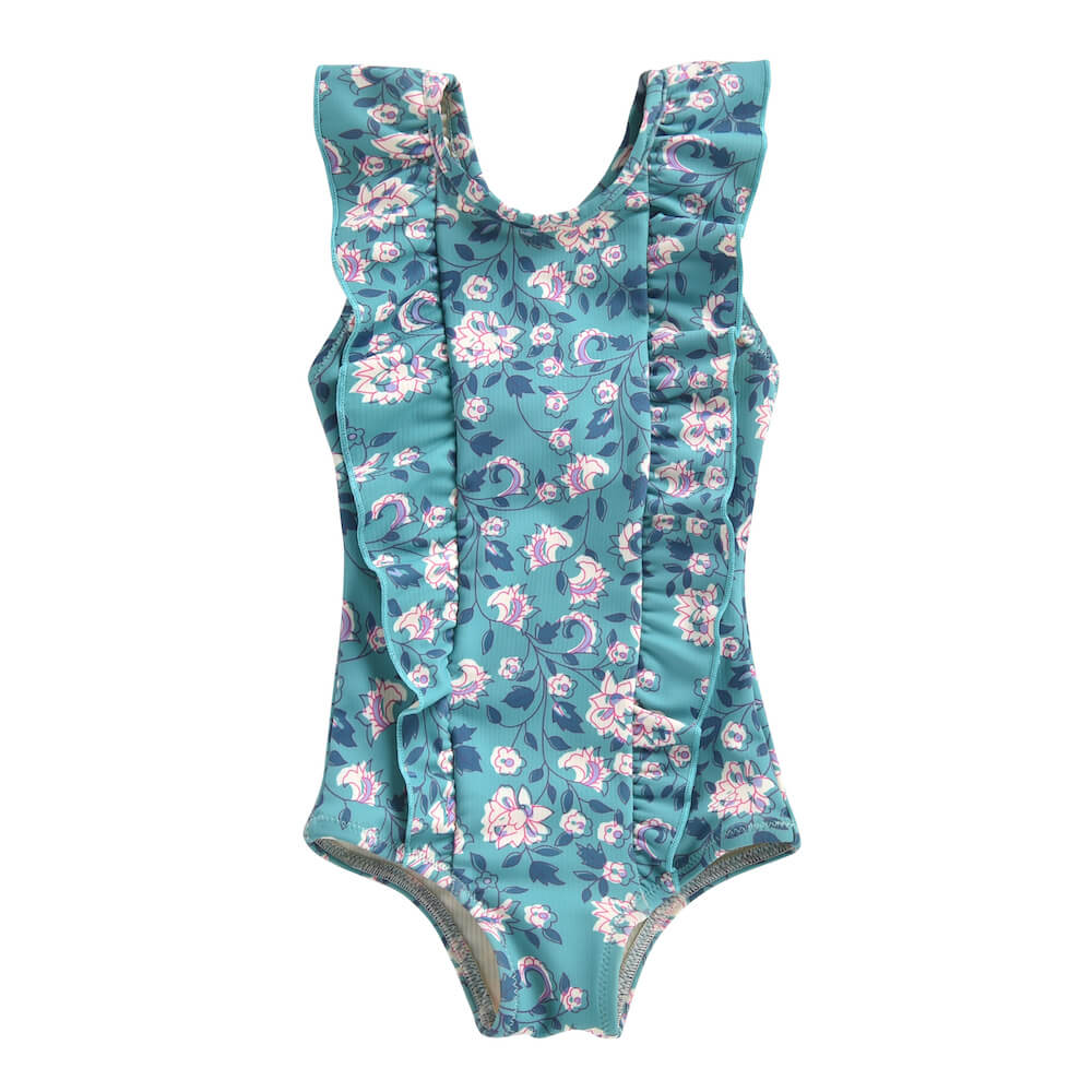Louise Misha Mosillos Bathing Suit Emerald Flowers | Tiny People