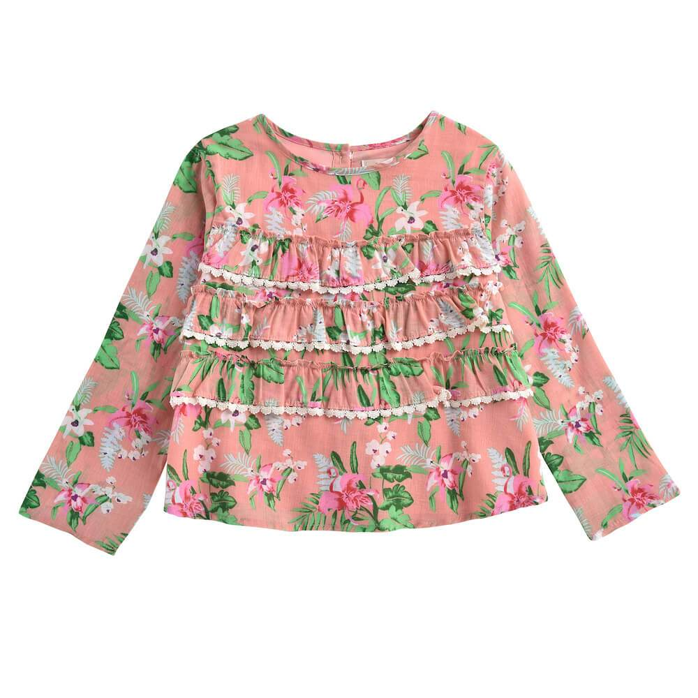 Louise Misha Campeche Blouse Sienna Flamingo | Tiny People