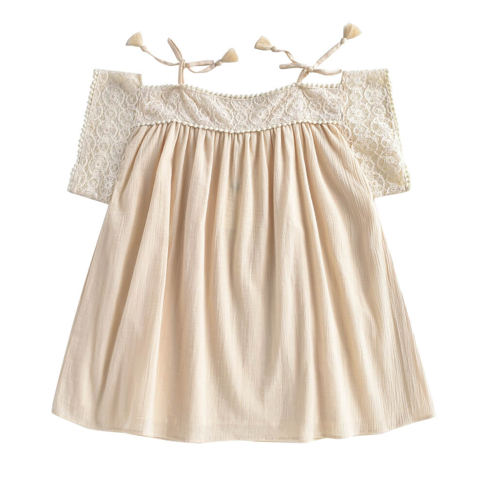 Louise Misha Amara Dress Cream | Tiny People