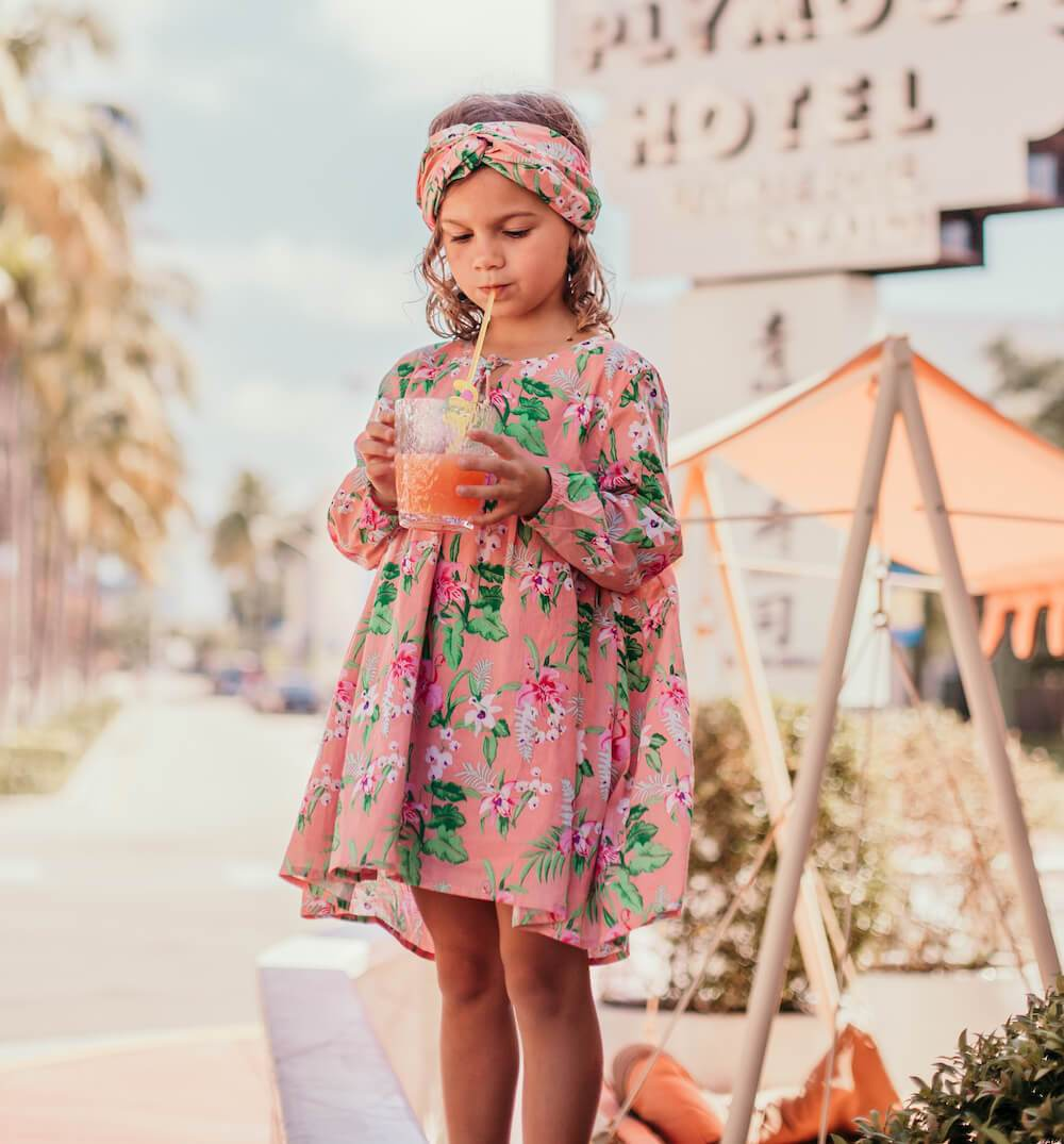 Louise Misha Felizita Dress Sienna Flamingo | Tiny People