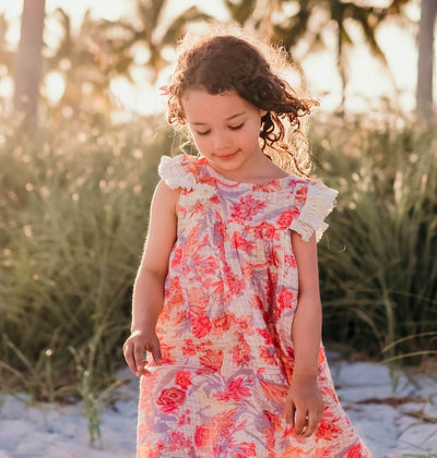 Louise Misha Janice Dress Pink Flowers | Tiny People