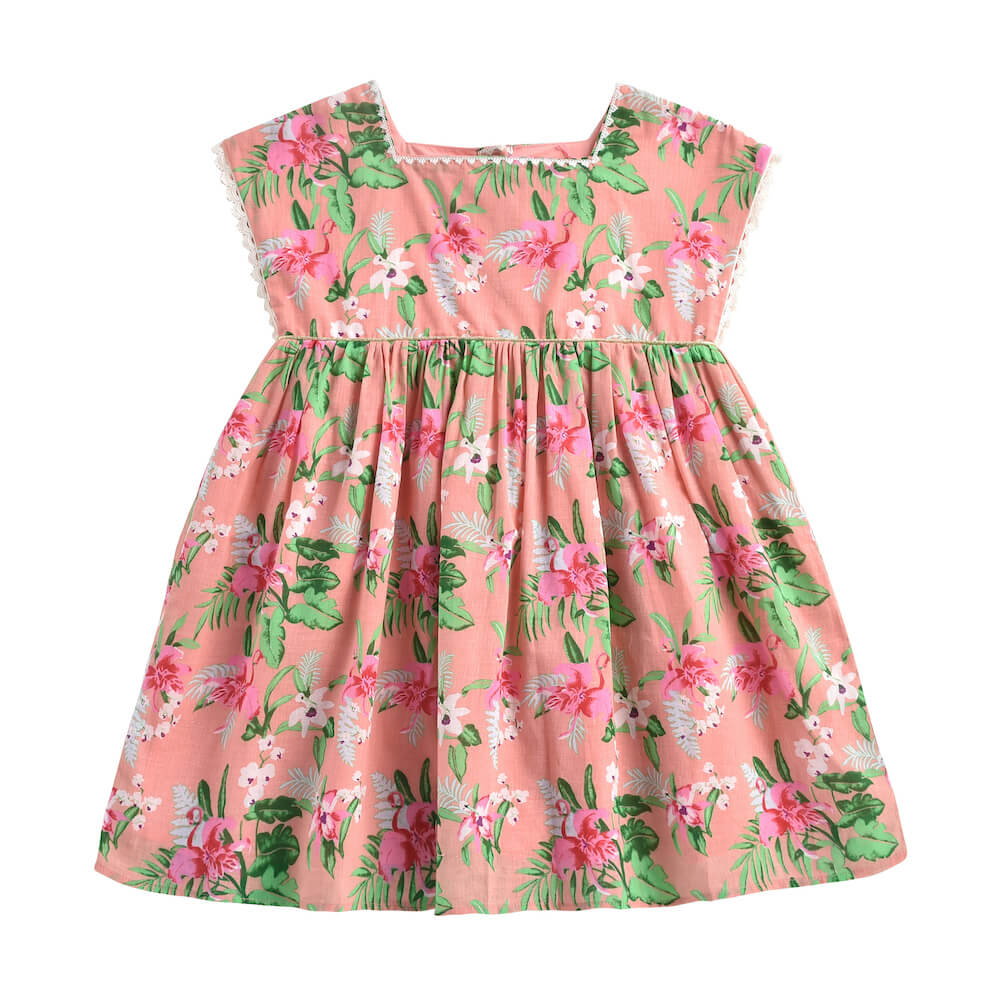 Louise Misha Tapaipa Dress Sienna Flamingo | Tiny People