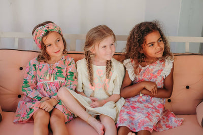 Louise Misha Yuriria Headband Sienna Flamingo | Tiny People