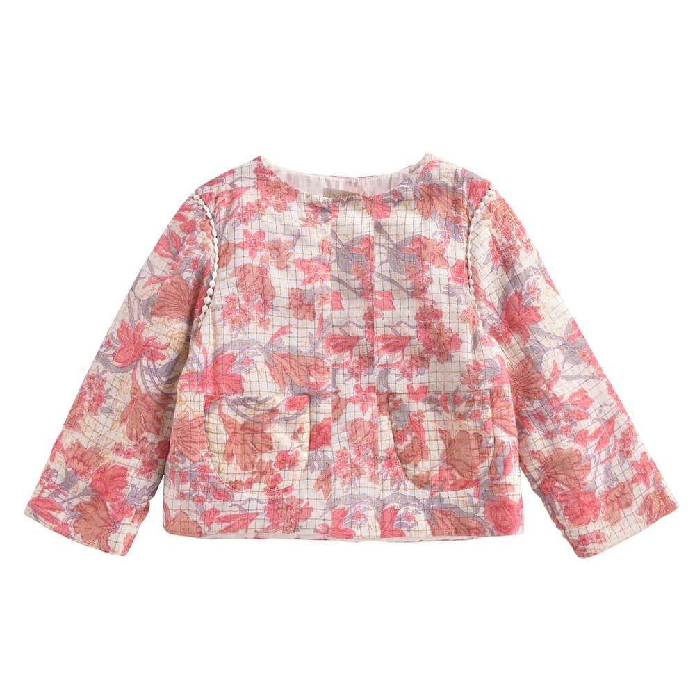 Louise Misha Soluta Jacket Pink Flowers | Tiny People