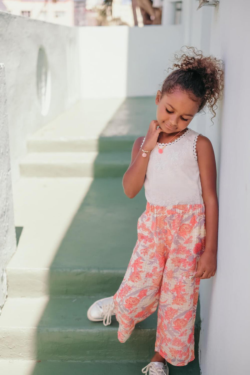 Louise Misha Flor Pants Pink Flowers | Tiny People