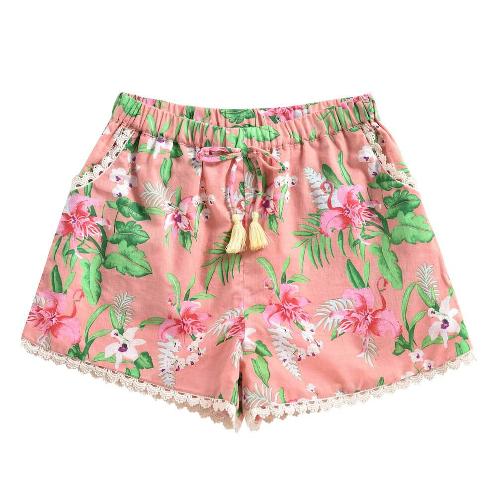 Louise Misha Vallaloid Shorts Sienna Flamingo | Tiny People