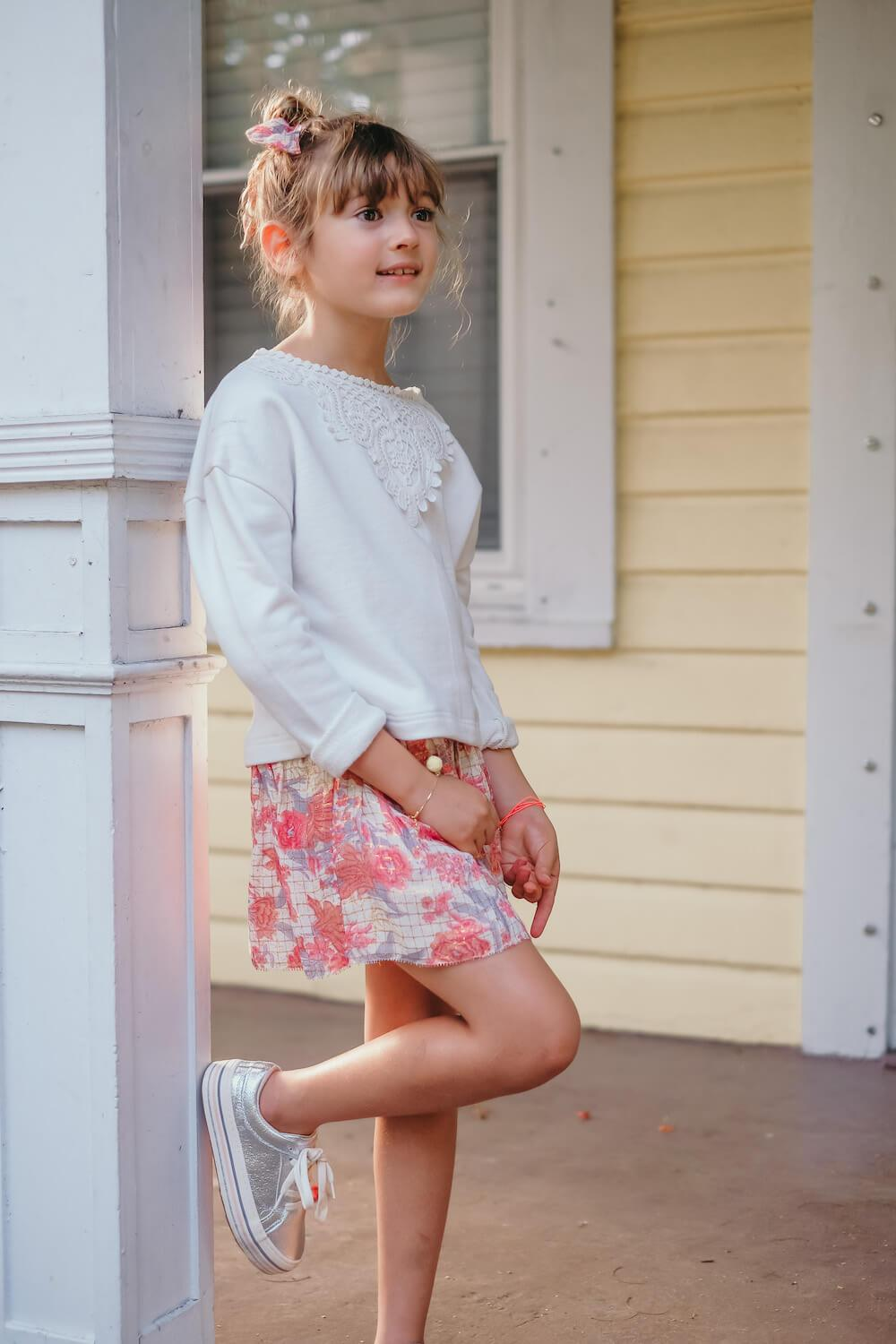 Louise Misha Salina Skirt Pink Flowers | Tiny People