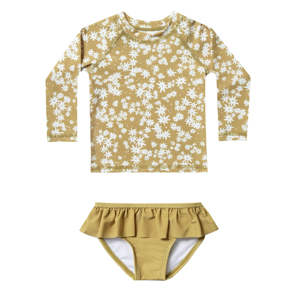Rylee and Cru Scattered Daisy Rashguard Set | Tiny People