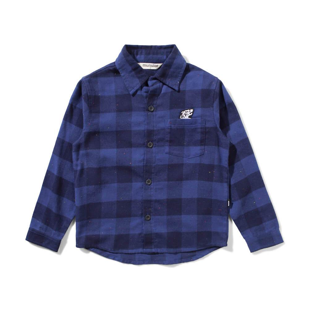 Hukuba Shirt Blue Check