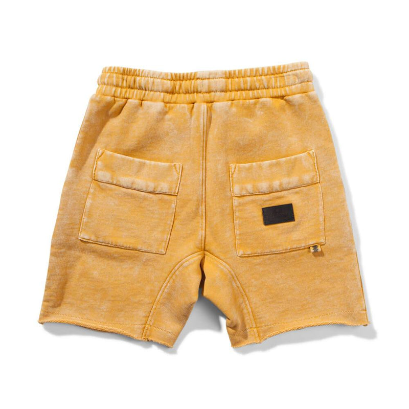 Heal Flip Fleece Shorts Mustard
