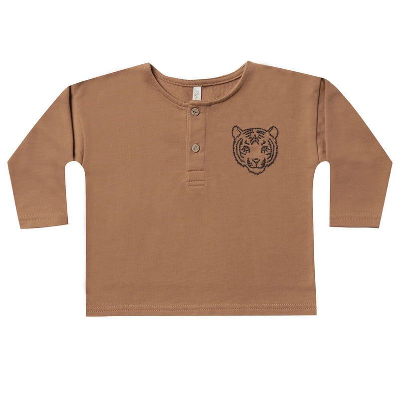 Rylee and Cru Tigar Henley Sweatshirt | Tiny People