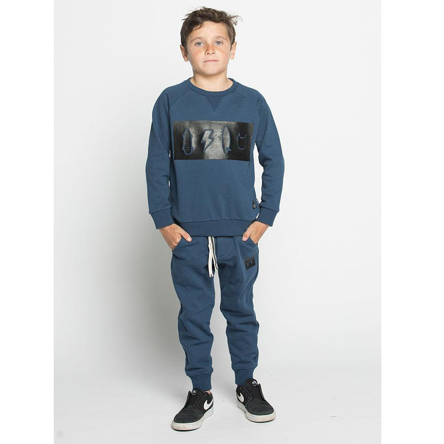 Munster Kids Icon HD Crew Blue - Tiny People Cool Kids Clothes Byron Bay