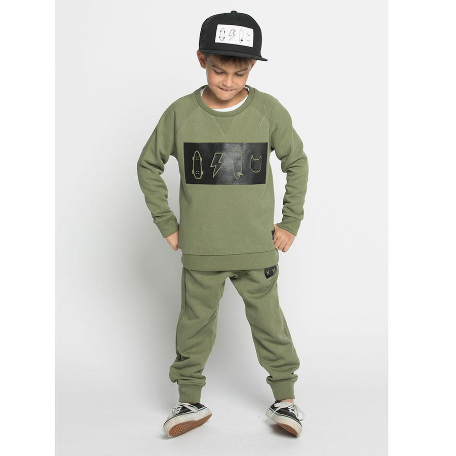 Munster Kids Icon HD Crew Sage - Tiny People Cool Kids Clothes Byron Bay
