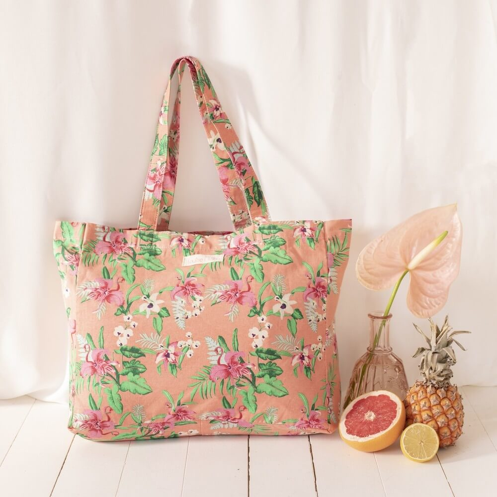 Beverly Tote Bag Sienna Flamingo