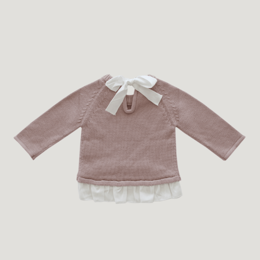 Jamie Kay Frill Knit - Rosy - Tiny People Cool Kids Clothes Byron Bay