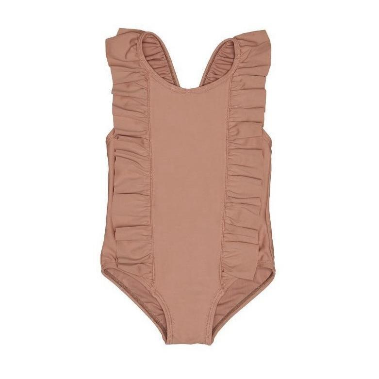 Frill Swimsuit Terracotta