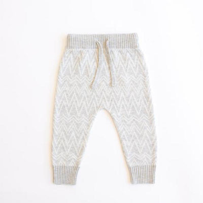 Jujo Baby Zigzag Pant - Silver / Ecru - Tiny People Cool Kids Clothes Byron Bay
