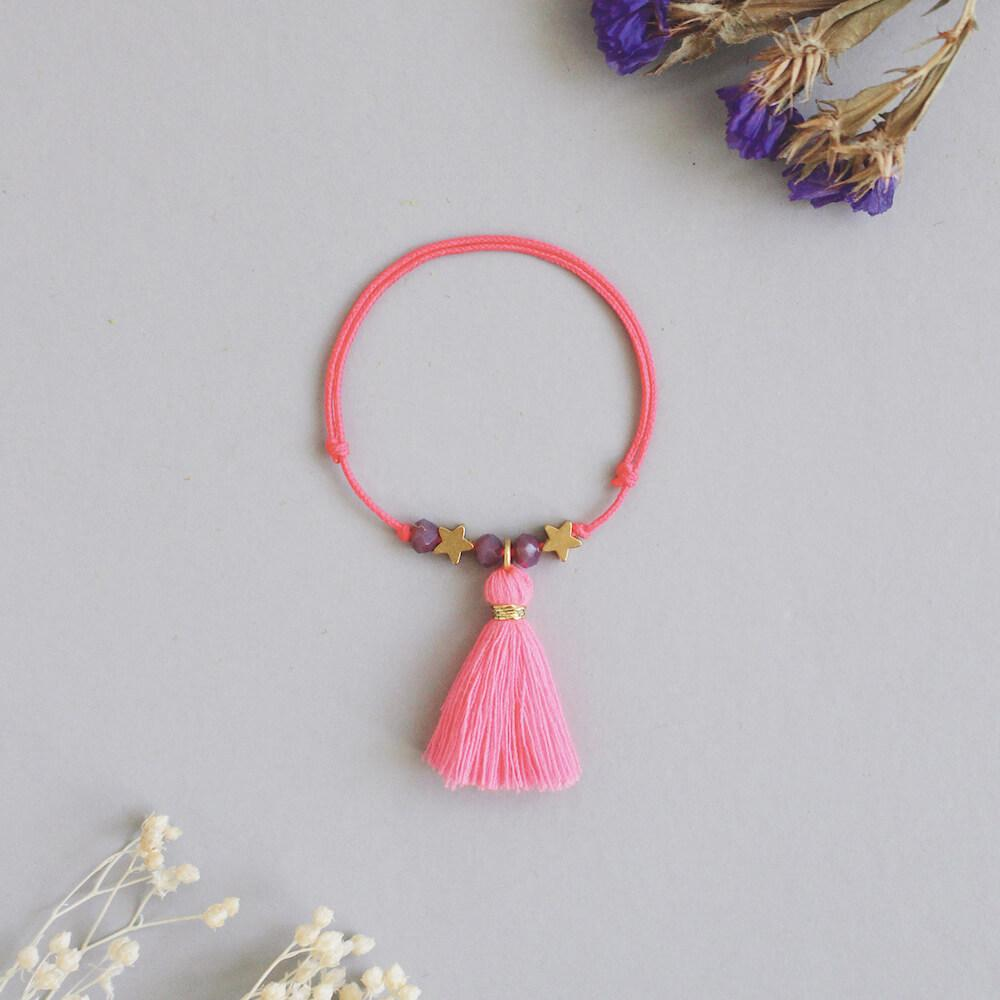 Louise Misha Manuela Bracelet Pink Fluo accessories - Tiny People Cool Kids Clothes