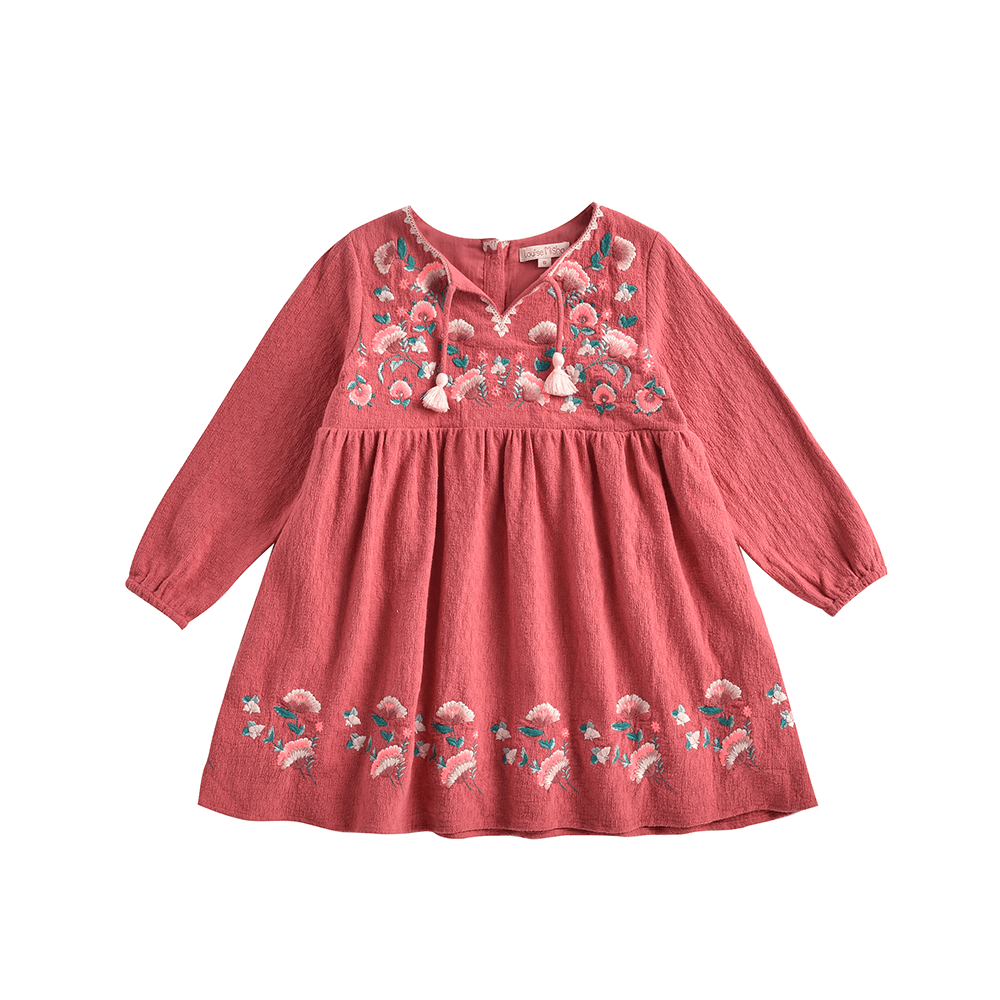 Louise Misha Cuzco Dress Burgundy Girls Dresses - Tiny People Cool Kids Clothes