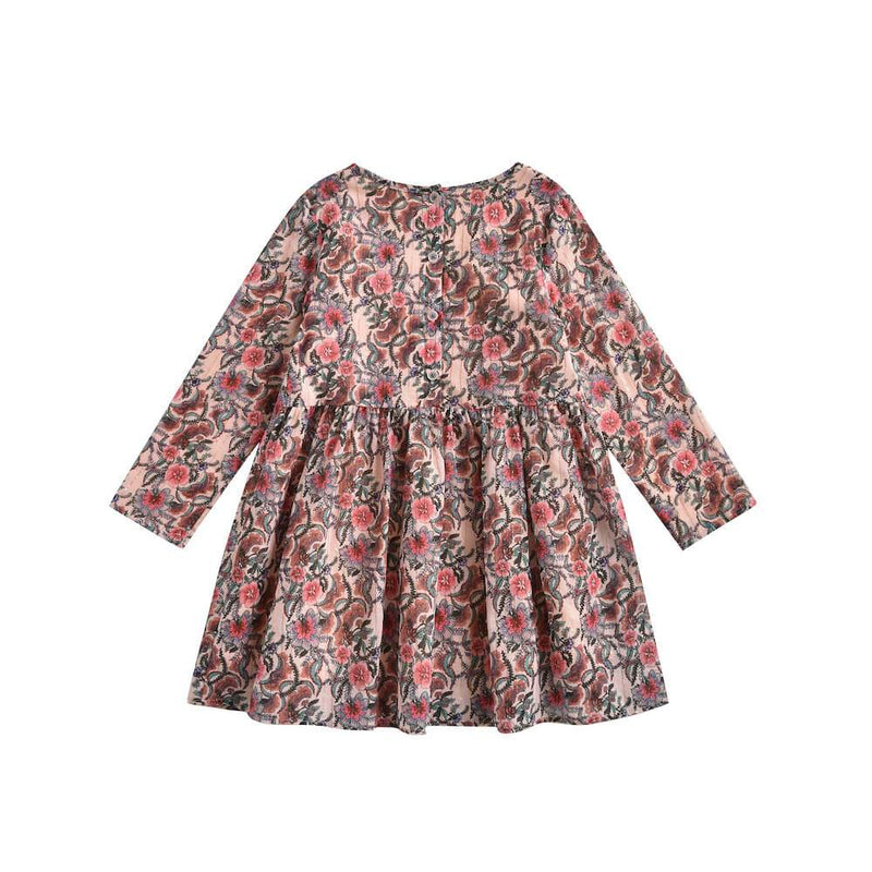 Louise Misha Roulotta Dress Blush Flowers Girls Dresses - Tiny People Cool Kids Clothes