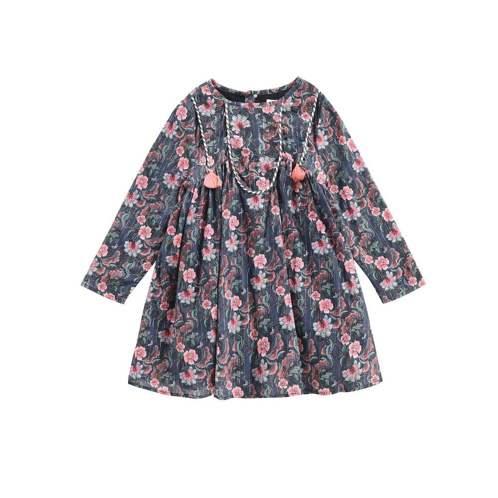 Roulotta Dress Storm Flowers