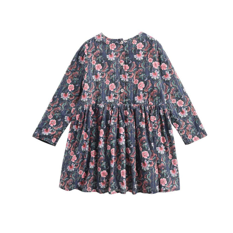 Louise Misha Roulotta Dress Storm Flowers Girls Dresses - Tiny People Cool Kids Clothes