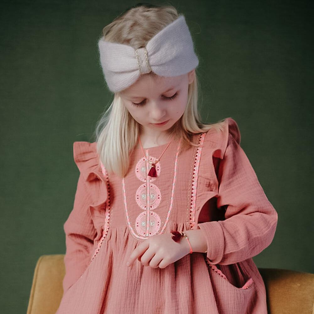 Louise Misha Aela Necklace Burgundy accessories - Tiny People Cool Kids Clothes