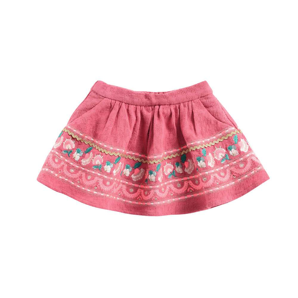 Louise Misha Yuni Skirt Burgundy Girls Skirts - Tiny People Cool Kids Clothes