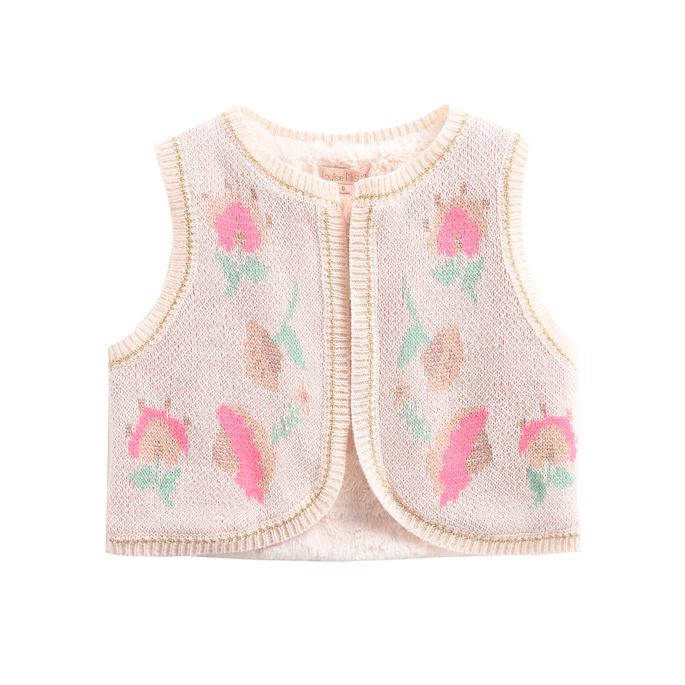 Louise Misha Colca Vest Cream Girls Jackets & Vests - Tiny People Cool Kids Clothes
