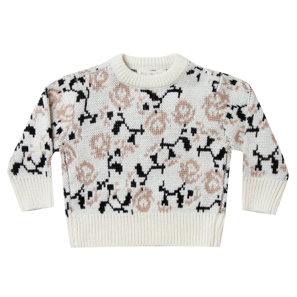 Rylee & Cru Knit Pullover Vintage Rose Girls Tops & Tees - Tiny People Cool Kids Clothes