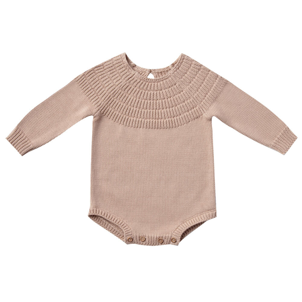 Quincy Mae Knit Dalia Romper Petal | Tiny People