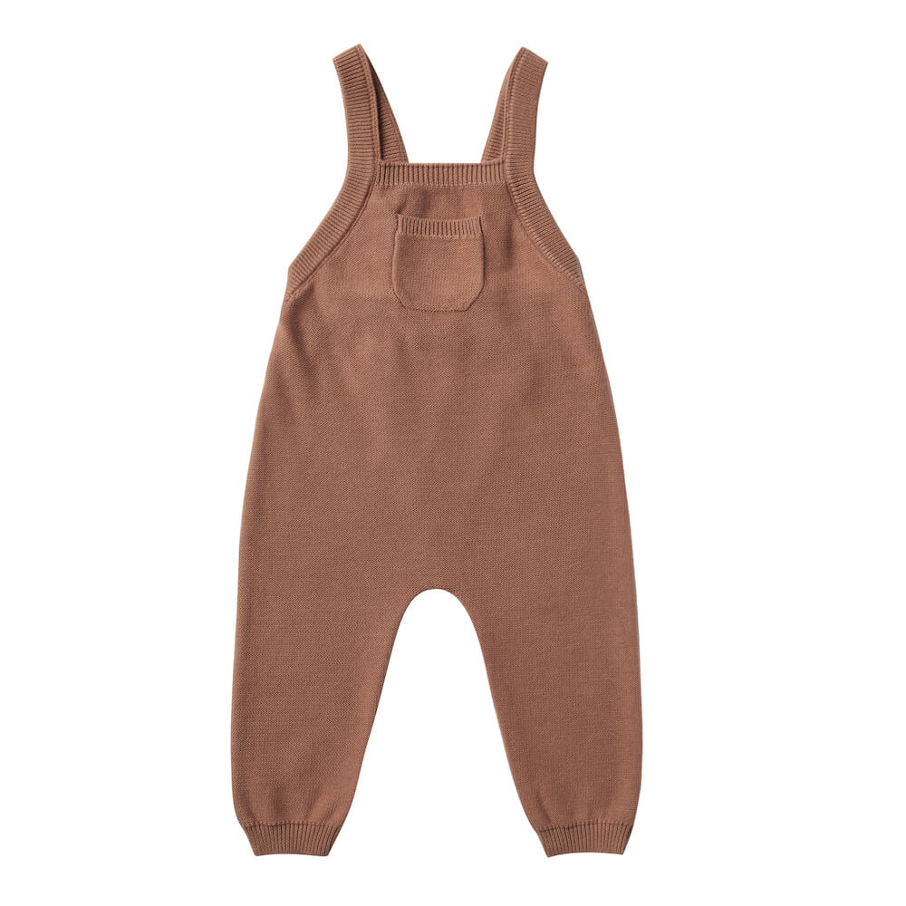 Quincy Mae Knit Overall Clay | Tiny People