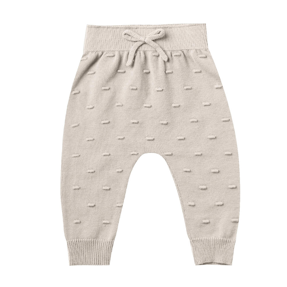 Quincy Mae Knit Pant Fog | Tiny People