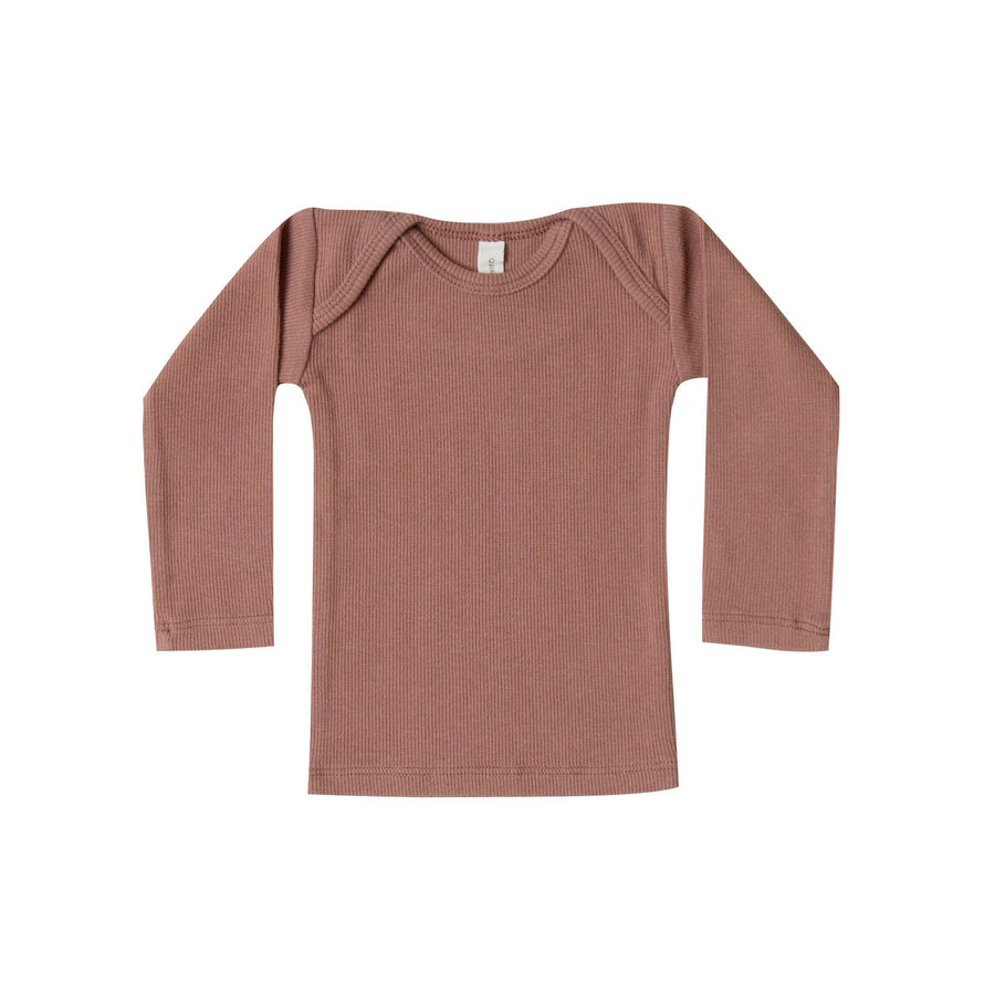 Ribbed Lap Tee Clay