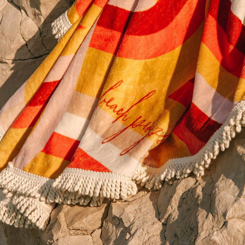 The La Plage Round Beach Towel