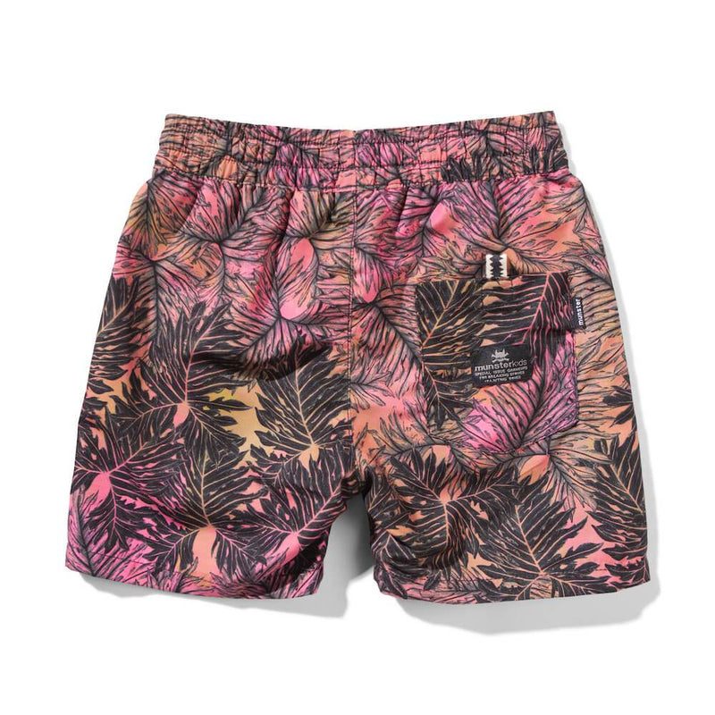 Munster Kids Leave Us Here Board Shorts Orange Shorts - Tiny People Cool Kids Clothes