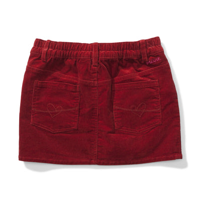 Leesy Cord Skirt Rust Red