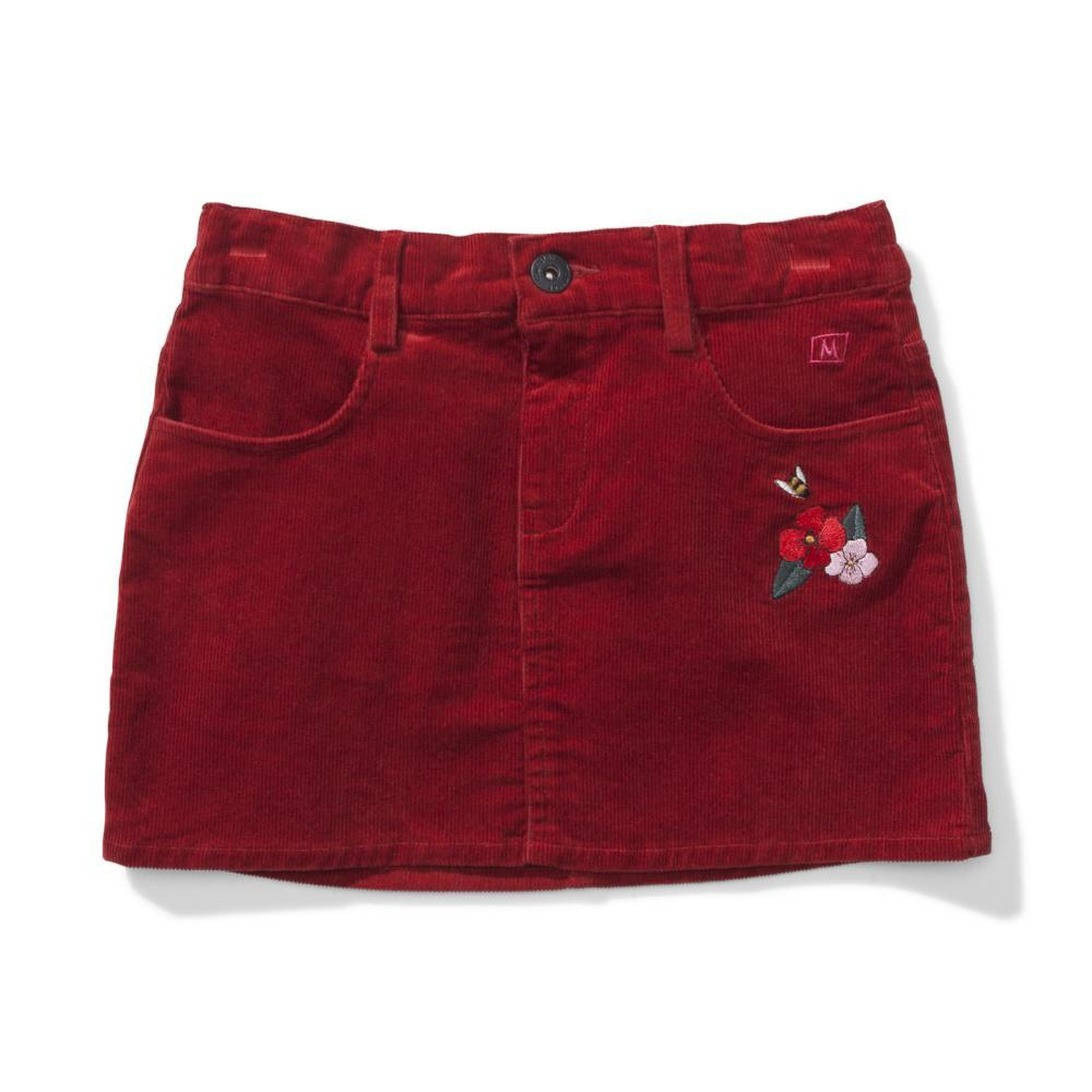 Missie Munster Leesy Cord Skirt Rust Red Girls Skirts - Tiny People Cool Kids Clothes