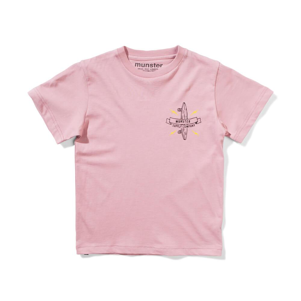 Munster Kids Logo T-Shirt Dusty Pink Boys Tops & Tees - Tiny People Cool Kids Clothes