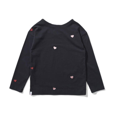 Missie Munster Love Always Long Sleeve Tee Soft Black Girls Tops & Tees - Tiny People Cool Kids Clothes