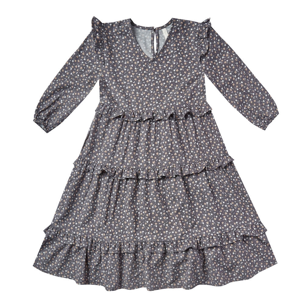 Rylee and Cru Mabel Dress Indigo Ditsy | Tiny People