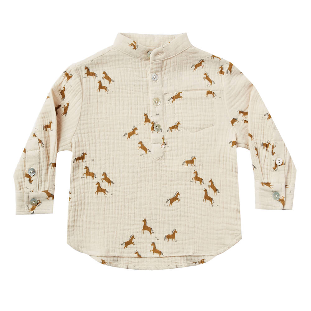Rylee & Cru Horses Mason Shirt | Tiny People