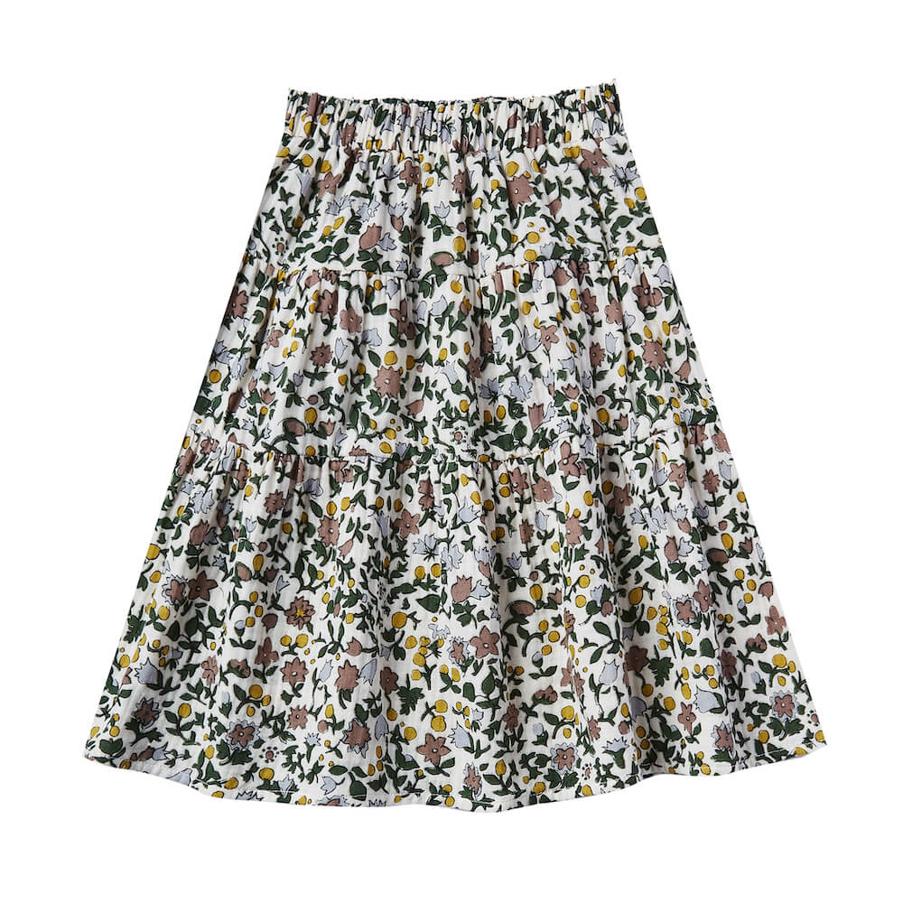 Rylee and Cru Tiered Midi Skirt Enchanted Garden | Tiny People