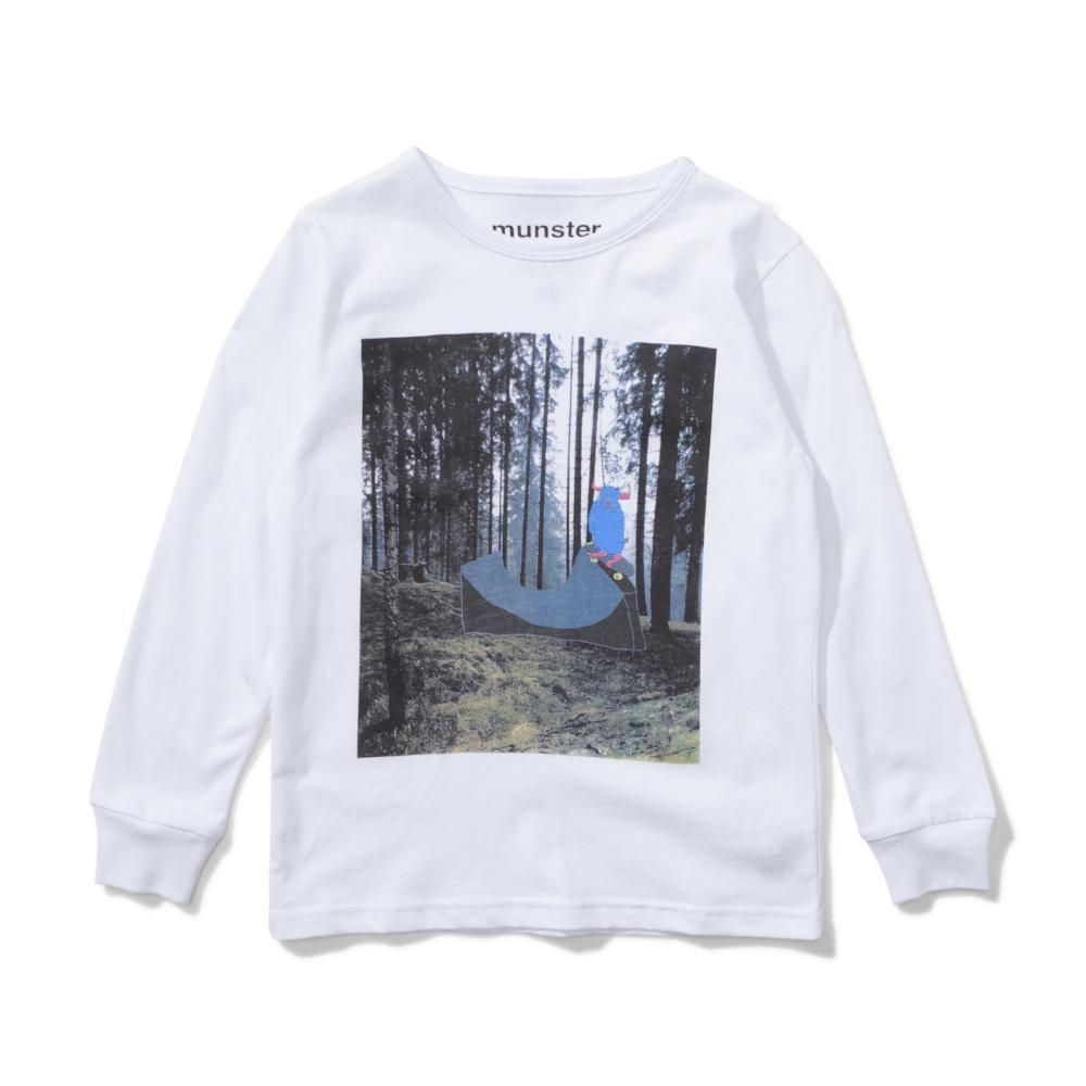 Moji Long Sleeve Tee White