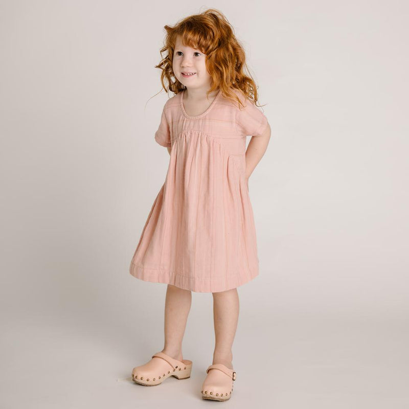 Clover Toddlers Dress Rose Stripe