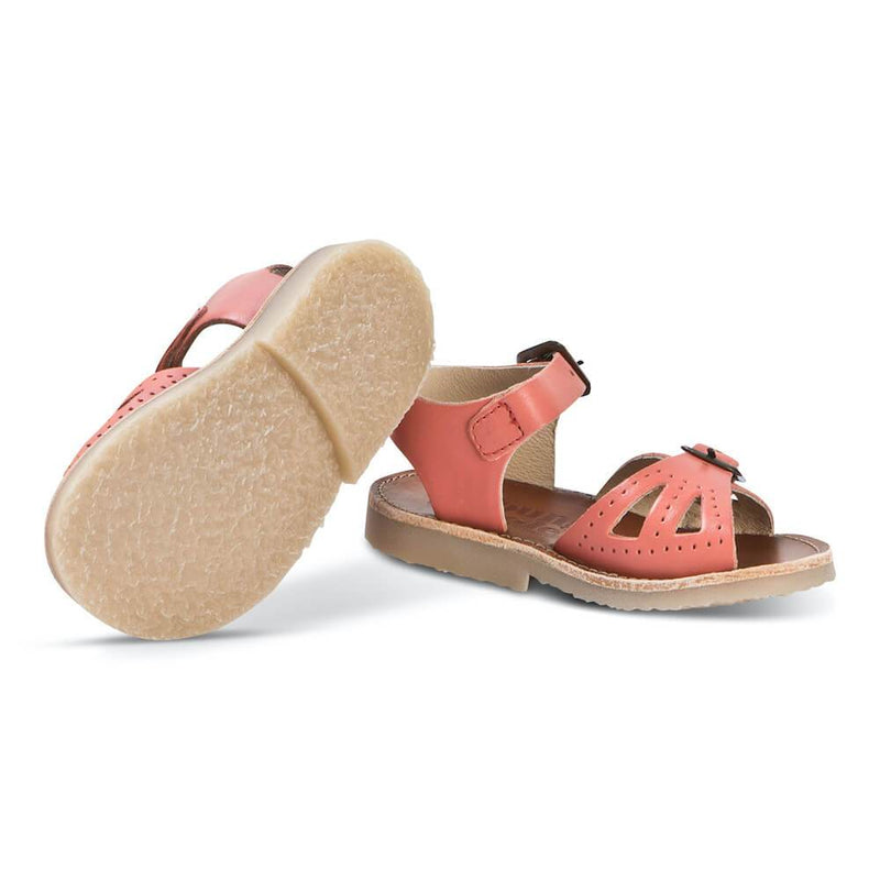 Young Soles Pearl Sandal Coral Leather | Tiny People