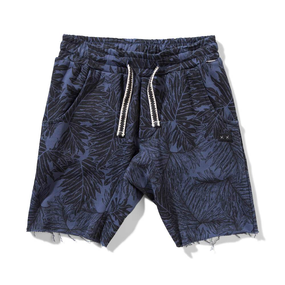 Palm Camo Shorts Blue